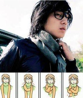 男士围巾的各种围法