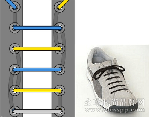 鞋带的24种系法图片