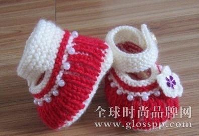 宝宝毛线鞋编织方法?