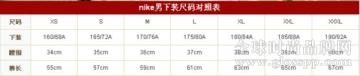 短裤尺码对照表 美国短裤尺码与中国短裤尺码换算