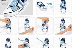 鞋带蝴蝶结的系法图解