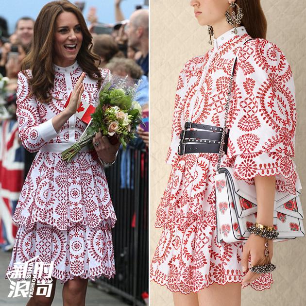 凯特王妃穿Alexander McQueen 2017早春系列