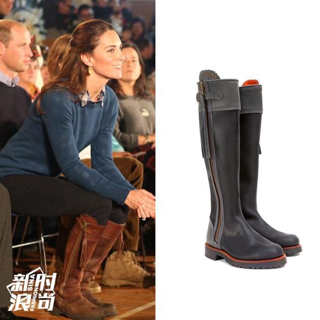 凯特王妃穿Penelope Chilvers长靴