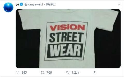 KANYE WEST巧出竞选周边,灵感源自 VISION STREET WEAR